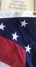5' X 8' POLY US MADE AMERICAN FLAG OUTDOOR EMBROIDERED STARS SEWN STRIPES NEW