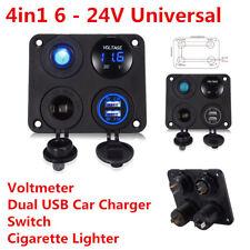 Universal for All 12V-24V Car Truck Motorcycle RV ATV Boat 4in1 Control Panel