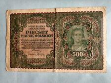 Banknote - 1919 Poland - Polska & Krajowa  - 500 Marek Polskich