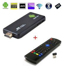 Quad Core Android 4.4 Smart TV BOX Dongle Bluetooth Wifi Mini PC+ Remote Control