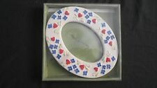 "Alco Industries Floral Pattern Ceramic Oval Picture Frame 6.75"" x 5.25"""