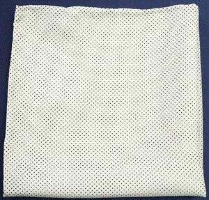 New Mens White / Black Polka Dot 100% Silk Handkerchief Pocket Square