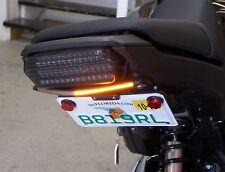 Honda Grom MSX125 SS Fender Eliminator Kit w/ Amber LED Turn Signal Light Bar; C