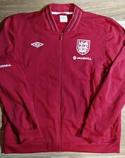 Umbro England National Team Football Mens Soccer Track Jacket Red Windbreaker