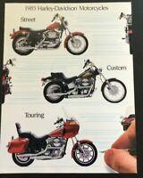 1985 - Harley Davidson - Street Custom Touring Motorcycles - Brochure - Original