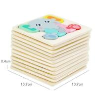 Baby 3D Wooden Puzzle Educational Toys Early Learning For Kids Toys I7H2