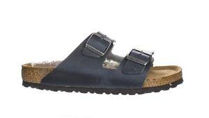 Birkenstock Mens Arizona Soft Footbed Blue Slides EUR 42 (2186766)