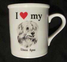 I Love My Lhasa Apso Dog Ceramic Mug Cup Canine Dog Lovers PAPEL USA