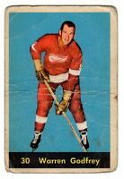 1X WARREN GODFREY 1960 61 Parkhurst #30 G Detroit Red Wings