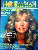 Farrah Fawcett Majors Magazine Rona Barrett's Hollywood 1977 Charlie's Angels