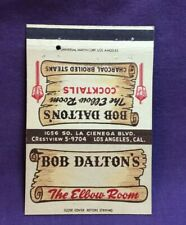 Advertising Matchbook Cover BOB DALTON'S THE ELBOW ROOM LOS ANGELES CALIFORNIA