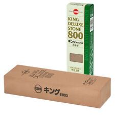KING Deluxe 800 Grit Whetstone Sharpening WaterStone Sharpener, Made in Japan