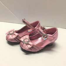 Toddlers Girls Princess Dress Shoes Size 6 Pink w/ Bows Disney