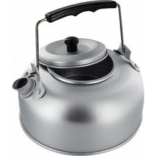 LIGHTWEIGHT 1 litre ALUMINIUM CAMPING KETTLE for home caravan gas camp hob
