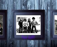 Thin Lizzy Band SIGNED AUTOGRAPHED FRAMED 10X8 REPRO PHOTO PRINT