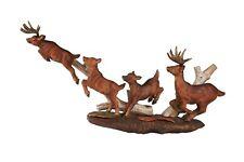 Deer Wood Carving Sculpture Cabin Rustic Decor