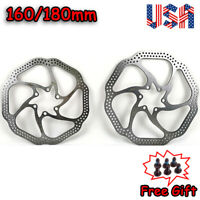 160/180mm Disc Brake Rotor MTB Bike 6-Holes Disk Brake Rotors Fit SHIMANO/SRAM