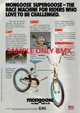 1980'S MONGOOSE BMX BIKE A3 ADVERTISEMENT POSTERS X2