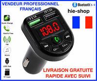 Transmetteur FM Bluetooth 5.0 Adaptateur MP3 Kit voiture Chargeur USB 3.1A FM