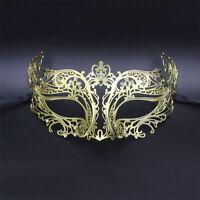 Women Fancy Metal Filigree Laser Cut Venetian Masquerade Party Prom Wedding Mask