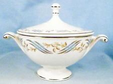 Hall Arlington Sugar Bowl & Lid for Sears Gold Blue Cream Retro Vintage