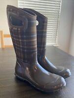 Women's BOGS North Hampton Plaid Waterproof Rubber Boots (Outlander) Size 7
