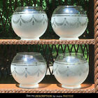 4 Matching Gas Lamp Frosted Drape Tassel Lamp Shades Globes lighting