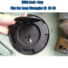 Fuel Filler Gas Oil Tank Cap Cover For Jeep Wrangler JK 07-16 2&4Dr W/ Lock+Key