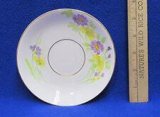 Saucer Plate Phoenix China TF&S LTD England White Purple Yellow Flowers Floral