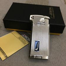JOBON  Dual Style Flame Torch & Standard Butane Cigar Cigarette Lighter Silver
