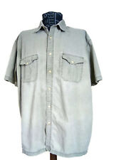 St. John's Bay Size 2X-Large Men's Cotton Shirt Button Front Short Sleeve