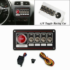 12V Car Racing  Ignition Switch Panel Engine Start Push Button Toggle Parts