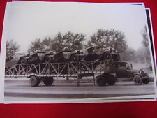 1930 'S FORD NEW MODEL A 'S ON TRAILER & FORD AA TOWING 11 X 17  PHOTO   PICTURE