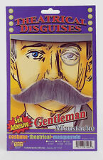 Gentleman's Grey Moustache Fake Gray Mustache Old Man Disguise Self Adhesive