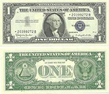 1957-B $1 SILVER CERTIFICATE * STAR NOTE *  GEM CRISP NEW - CONSECUTIVE NUMBERS