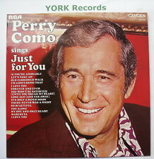 PERRY COMO - Sings Just For You - Excellent Con LP Record RCA Camden CDS 1130