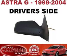 VAUXHALL ASTRA G MK4 VAN MANUAL WING MIRROR BLACK 1998-04 DRIVERS OFF SIDE