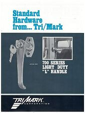 Tri/Mark 700 Series Light Duty L Handle Spec Sheet  On/Off Highway Equipment