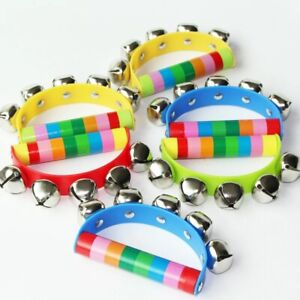 Baby Toys Jingle Shaking Bell Musical Instrument Hand Held Toddler Kids Teether