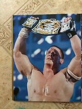 WWE Wrestlemania 22 Edge Vs Mick Foley / John Cena 2 Sided Poster 11x14