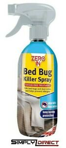 Zero In Bed Bug Killer Spray Crawling Insect Dust Mite Poison Treatment 500ml