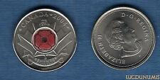 Canada - 25 Cents 2004 - Pavot Rouge Couleur Red Poppy