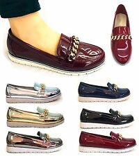 Clearance: Girls & Young Ladies VINTAGE CHAIN LOAFERS FLAT  OFFICE SHOES BROGUES