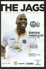 Scottish Cups Teams O-R Partick Thistle Football Programmes