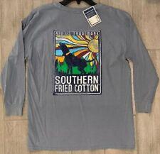 NEW Southern Fried Cotton Boys Pocket Shirt Sunshine Dog Youth Large YL