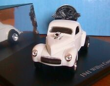 WILLYS COUPE 1941 WHITE WITH CHROMED ENGINE 1/43 UNIVERSAL HOBBIES