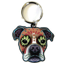 Boxer Dog Metal Key Ring Chain Keyring Cali Pretty In Ink