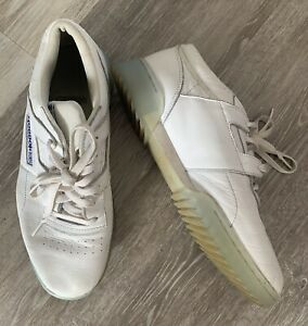Mens Reekbok White Classic Trainers Size 9 Leather