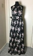 BNWT Definitions Black Pink Rose Floral Long Maxi Dress 10 Wedding Christening