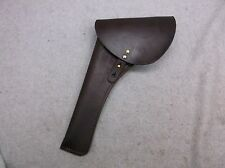Cavalry Style Flap Holster- Oiled Brown Leather Left Handed Stk #7002